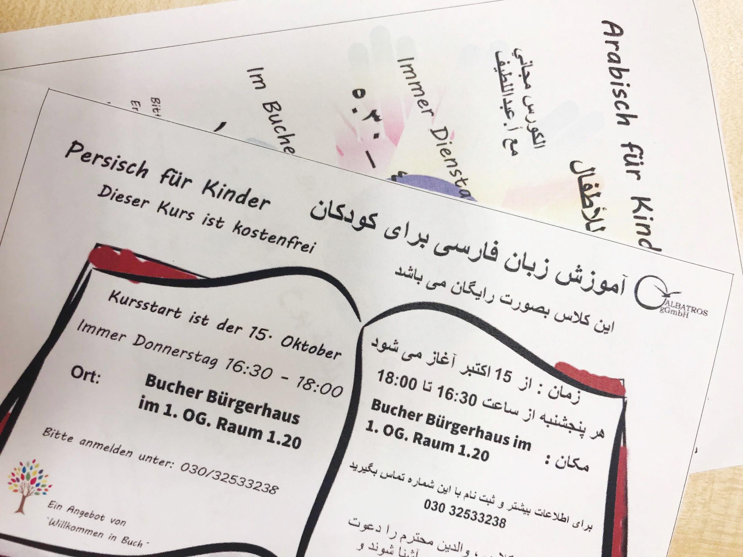 Muttersprachlicher Unterricht für arabisch- und persischsprechende Kinder