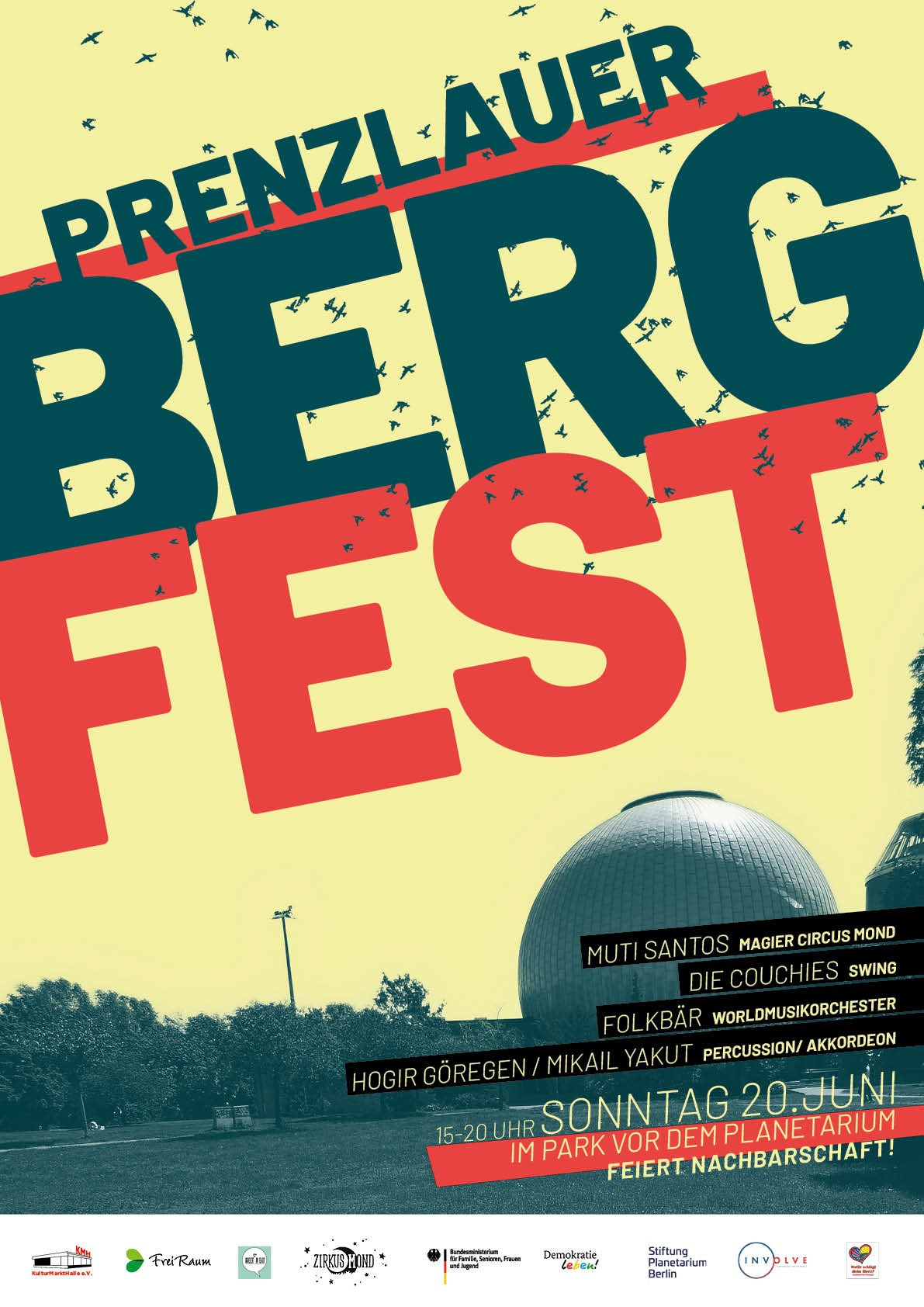 Die Mobile Kiez Tour feiert Prenzlauer Berg fest mit.